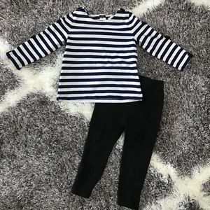 Kate Spade top and bottom set toddler size 12m